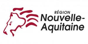 région nouvelle aquitaine, le logo de la région avec une tête de lion