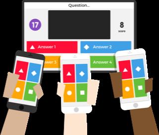 Interface de Kahoot pour les participants